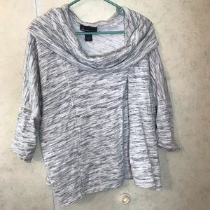 Heather gray cowl neck half sleeve sweater
